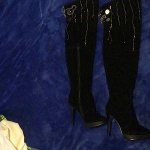 New boots-velvet over knees